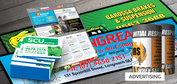advertising products including fridge calendars, fridge whiteboards, drink coasters, bar runners, coupon books, bookmarks