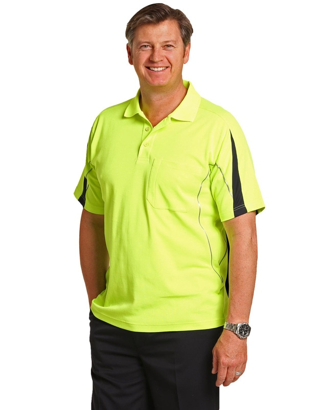 aiw hi-viz truedry short sleeve polo style sw25a at non stop adz