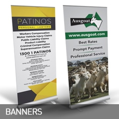banners designed and printed at non stop adz