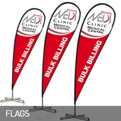 banner flags designed and printed at non stop adz