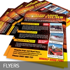 flyers designed and printed at non stop adz