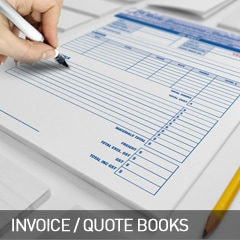 invoice and quote books designed and printed at non stop adz