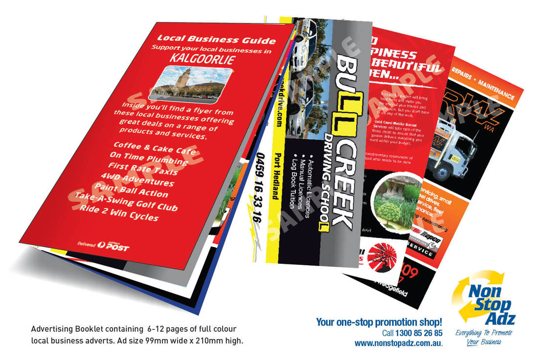 Tri-fold brochures designed and printed at non stop adz