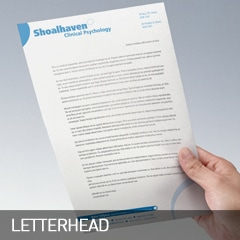 letterhead designed and printed at non stop adz