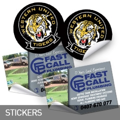 stickers designed and printed at non stop adz
