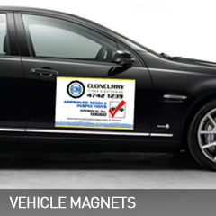 vehicle magnets designed and printed at non stop adz