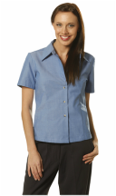 winning spirit short sleeve ladies chambray shirt style bs05 at non stop adz
