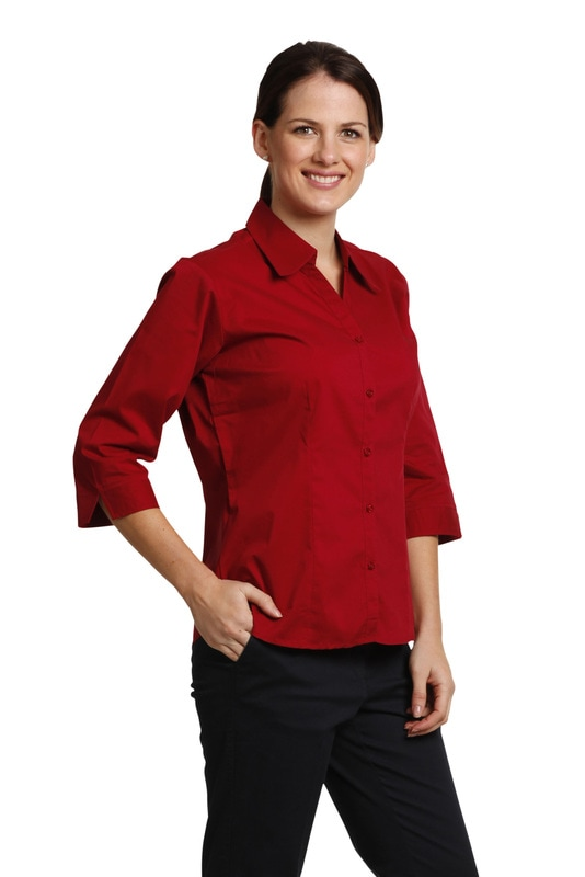winning spirit executive ladies 3/4 sleeve shirt style bs07q at non stop adz