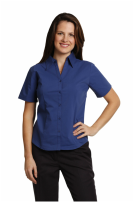 winning spirit executive ladies short sleeve chambray shirt style bs07s at non stop adz