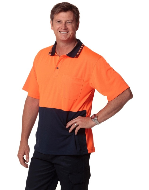 aiw hi-viz cooldry short sleeve polo style sw01 at non stop adz