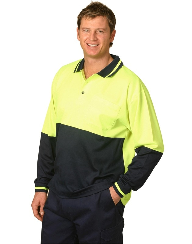 aiw hi-viz truedry long sleeve polo style sw11 at non stop adz