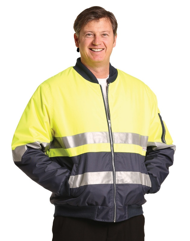 aiw hi-viz flying jacket with 3M tapes style sw16a at non stop adz