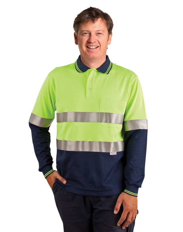 aiw hi-viz truedry long sleeve polo style sw21a at non stop adz