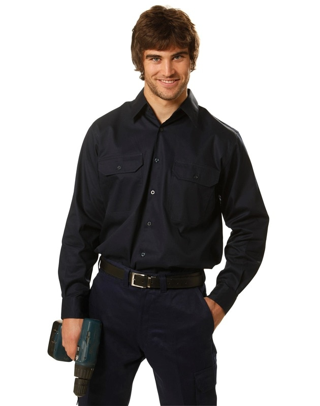 aiw long sleeve cotton work shirt style wt02 at non stop adz
