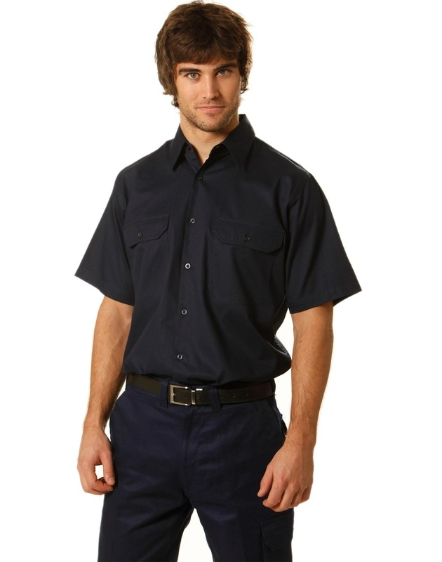 aiw short sleeve cotton drill work shirt style wt03 at non stop adz