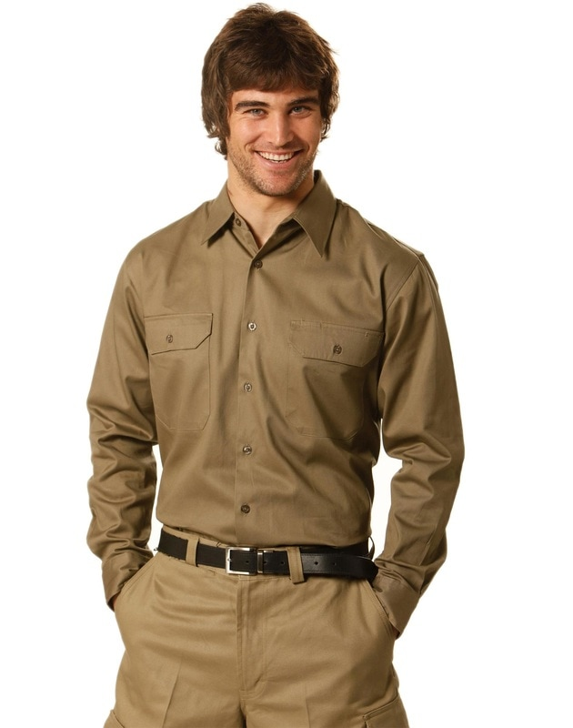 aiw long sleeve cotton work shirt style wt04 at non stop adz