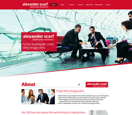 alexander scarf mortgage brokers one page mobile ready website