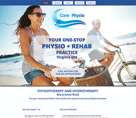care physio one page mobile ready website