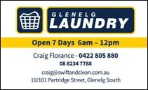 business card for glenelg laundry