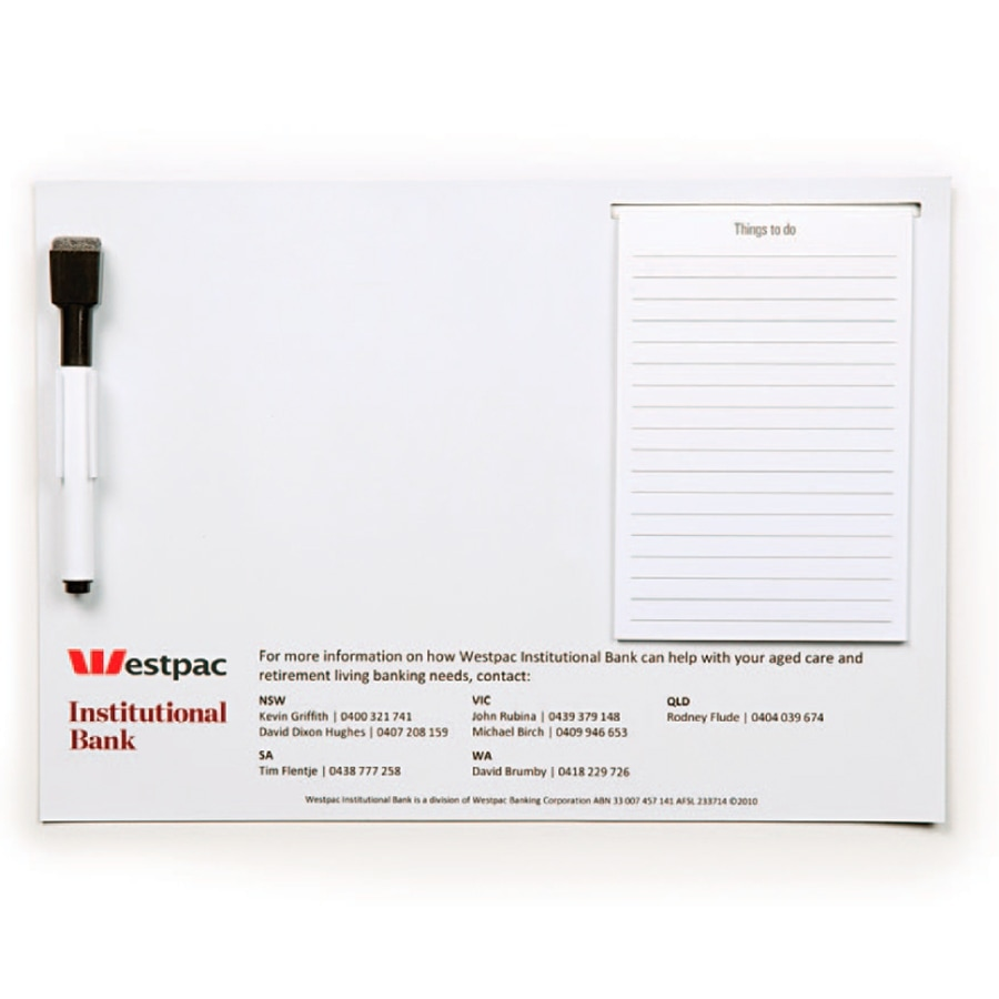 promotional magnetic whiteboard A4 M419 at non stop adz