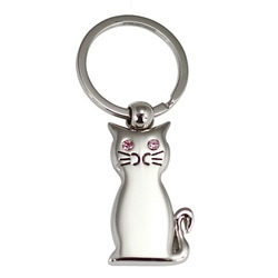 promotional metal keyring cat shape JK045 at non stop adz