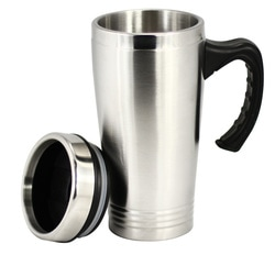 stainless double walled mug JM001 at non stop adz