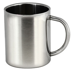 stainless double walled mug JM007 at non stop adz