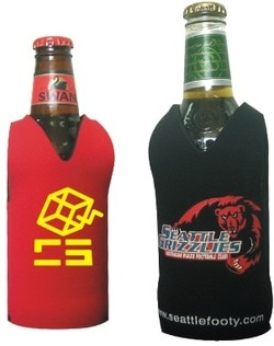 promotional footy style stubby cooler, style N06, at non stop adz
