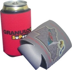 promotional flat pak stubby holder, style N10, at non stop adz